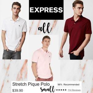 3-POLO BUNDLE Men's Express Stretch Pique Polos!